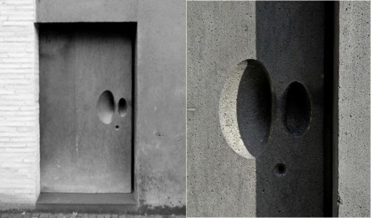 puerta entrada cemento hormigón