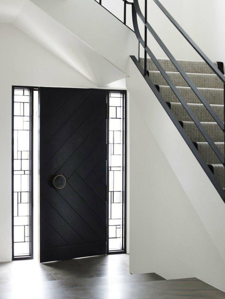 puerta entrada color negro decio