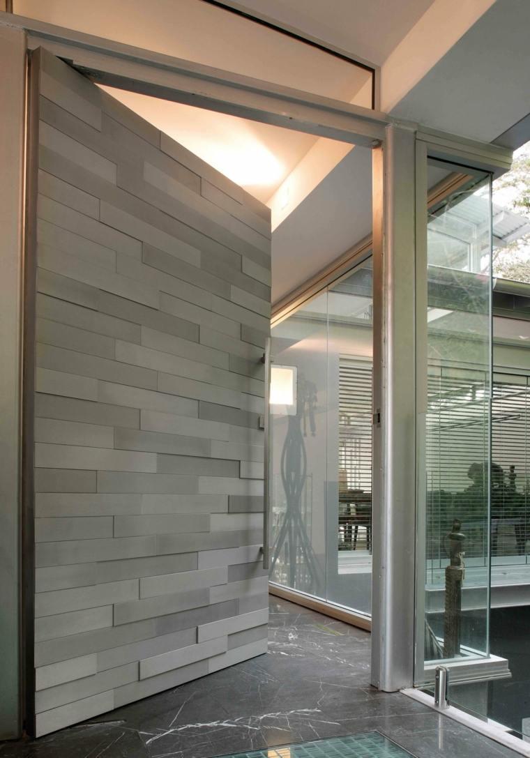 Puertas de entrada de dise o moderno 49 modelos Disenos modernos con elementos de madera
