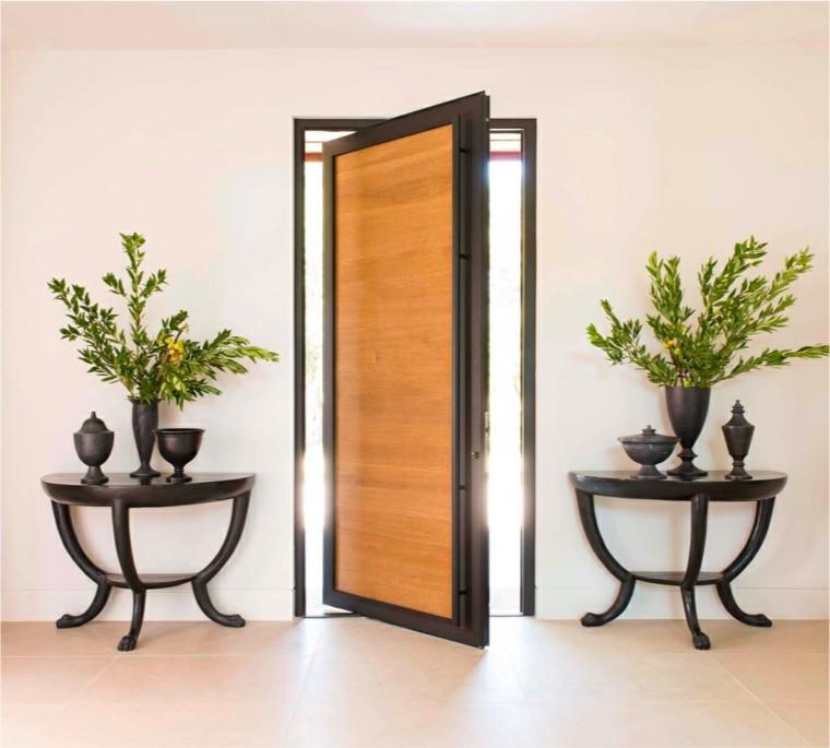 puerta madera marcos acero