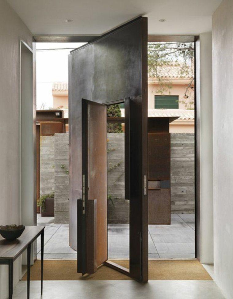 Puertas de entrada de dise o moderno 49 modelos for Puertas pequenas exterior