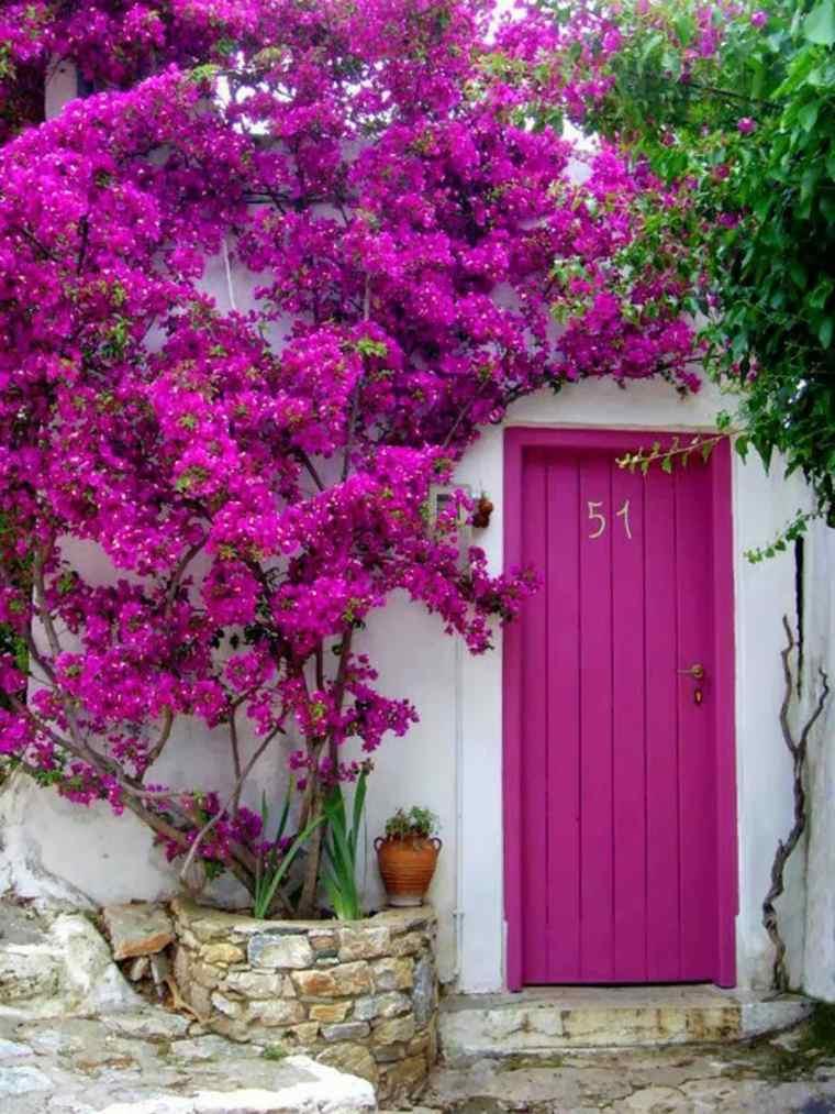 Puertas de entrada de dise o moderno 49 modelos - Colores para puertas ...