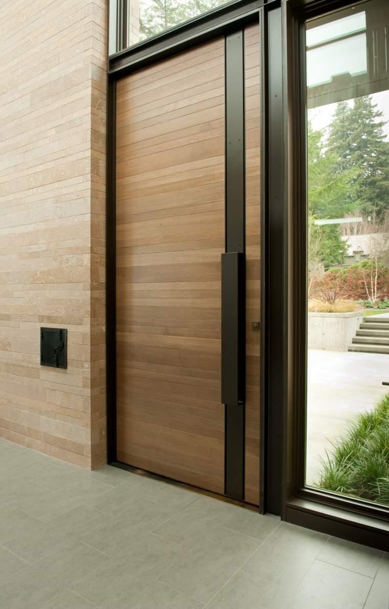 Puertas de entrada de dise o moderno 49 modelos - Puertas modernas de entrada ...