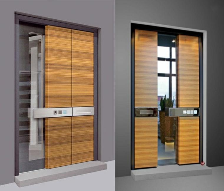Puertas de entrada de dise o moderno 49 modelos for Puertas de acceso principal