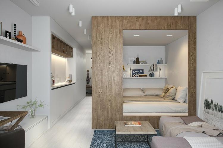 puertas madera estantes conceptos habitacion