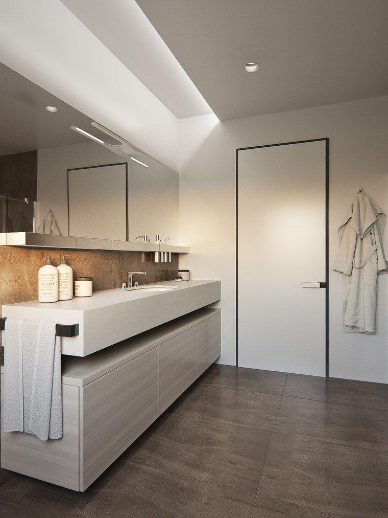 Iluminacion Baño Easy:reformar bano iluminacion paredes blancas opciones ideas