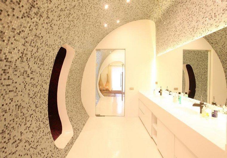 reformar bano iluminacion paredes mosaico original ideas