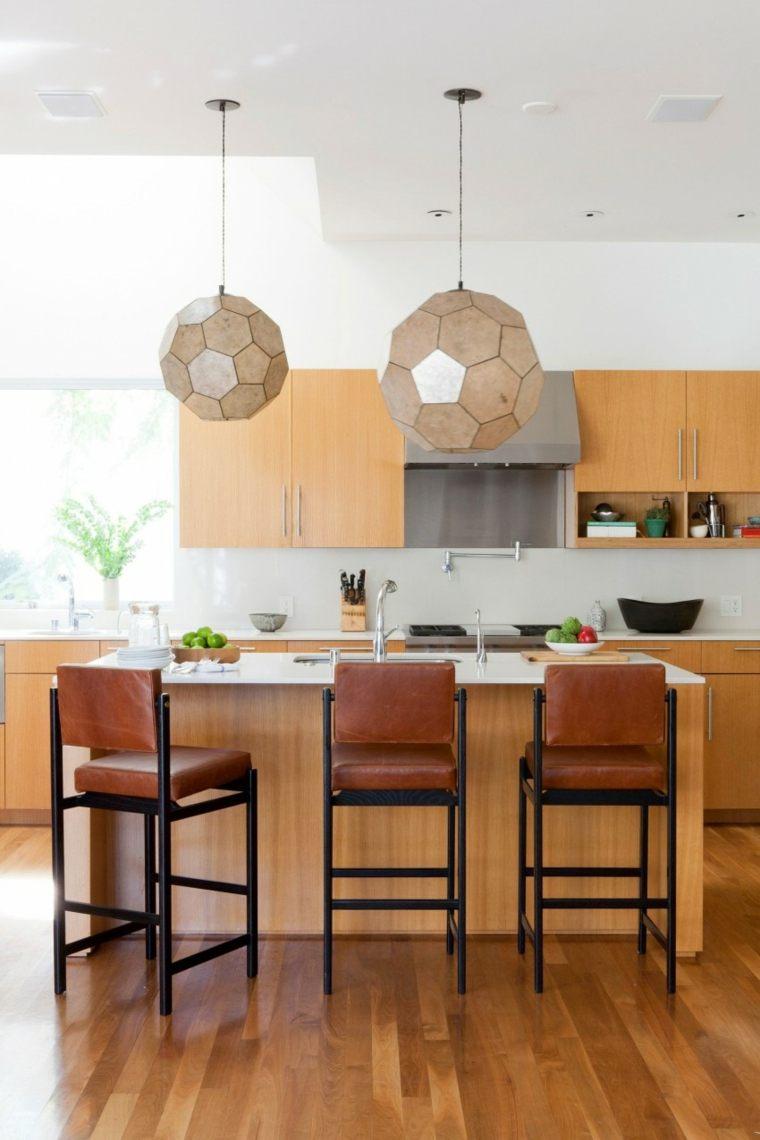 residencia contemporanea cocina taburetes altos isla ideas