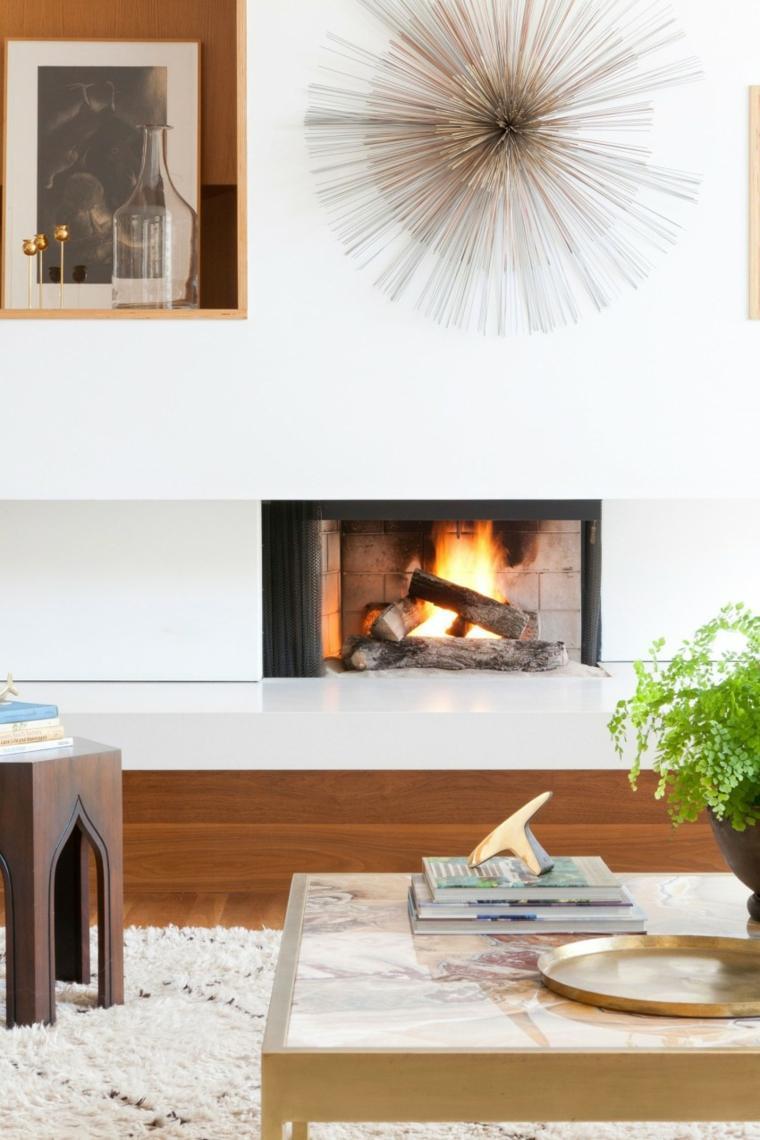 residencia contemporanea salon chimenea ideas