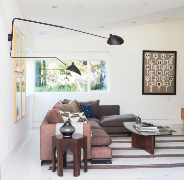 residencia contemporanea salon sofa color marron ideas