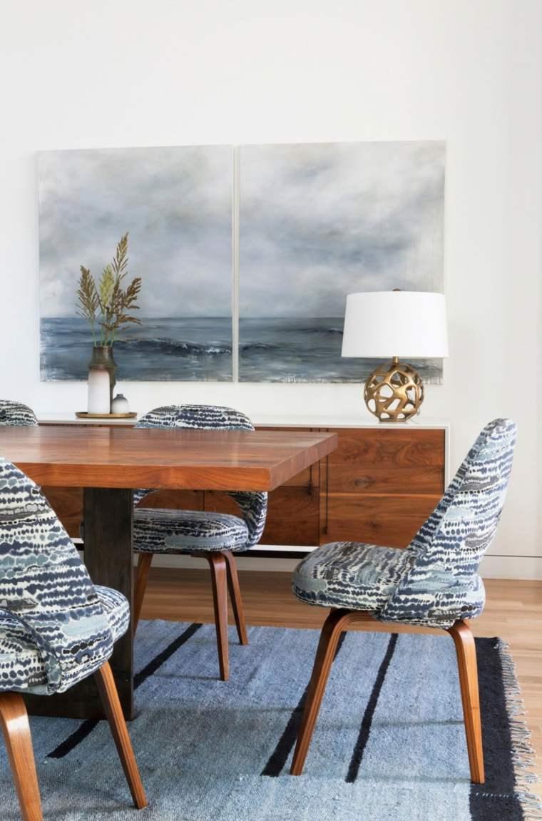 residencia moderna comedor sillas alfombra a juego ideas
