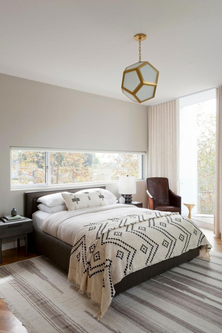 residencia moderna dormitorio cama madera ideas