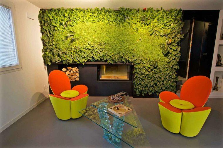 sala estar ideas para jardines verticales