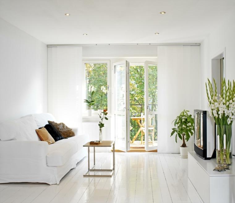 Salones en blanco descubra los 100 interiores m s modernos for Salas clasicas modernas