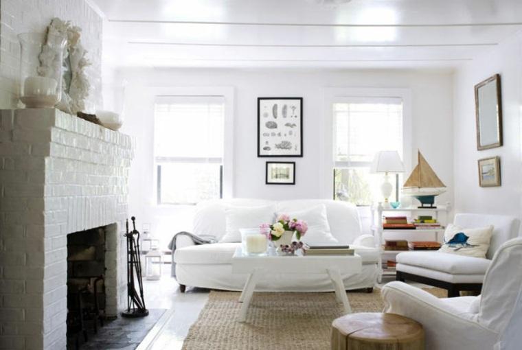 salas estar blancas diseno moderno