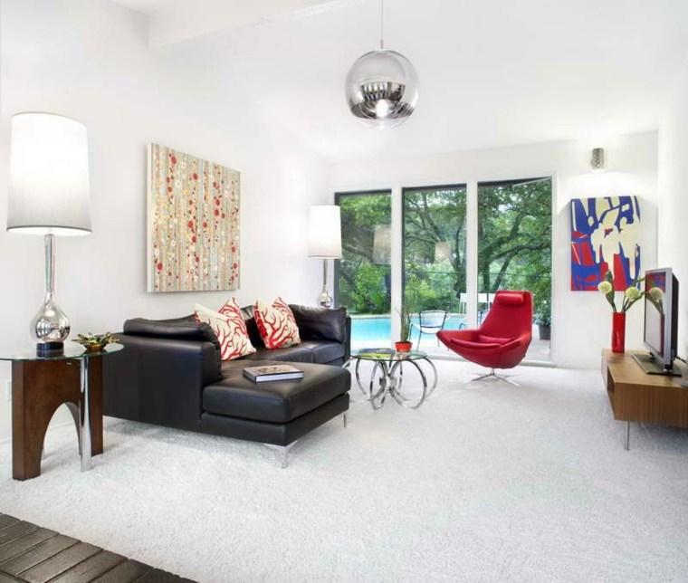 salon alfombra de color blanco