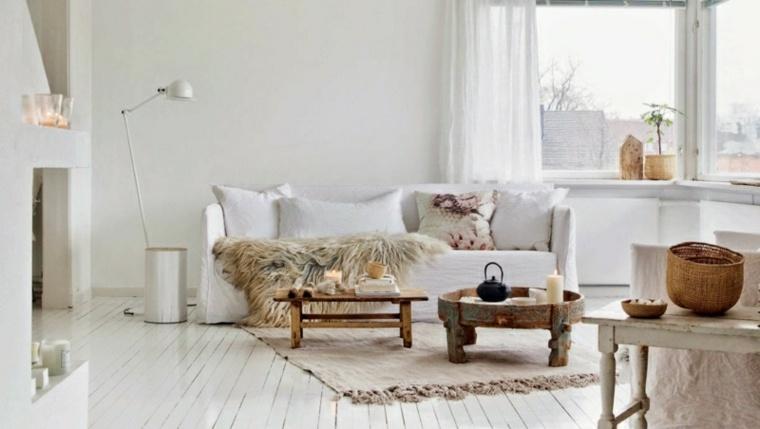 salon escandinavo color blanco suelo
