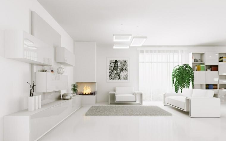 salon decorado todo blanco
