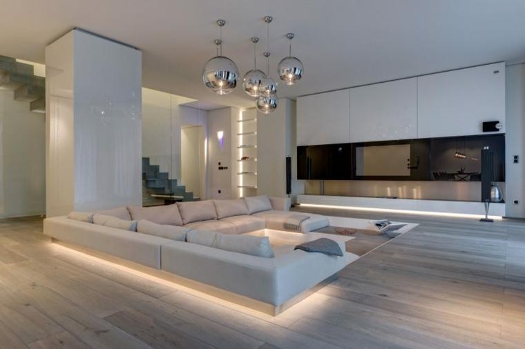 Ideas decoraci n sal n 24 dise os modernos for Salones minimalistas de diseno
