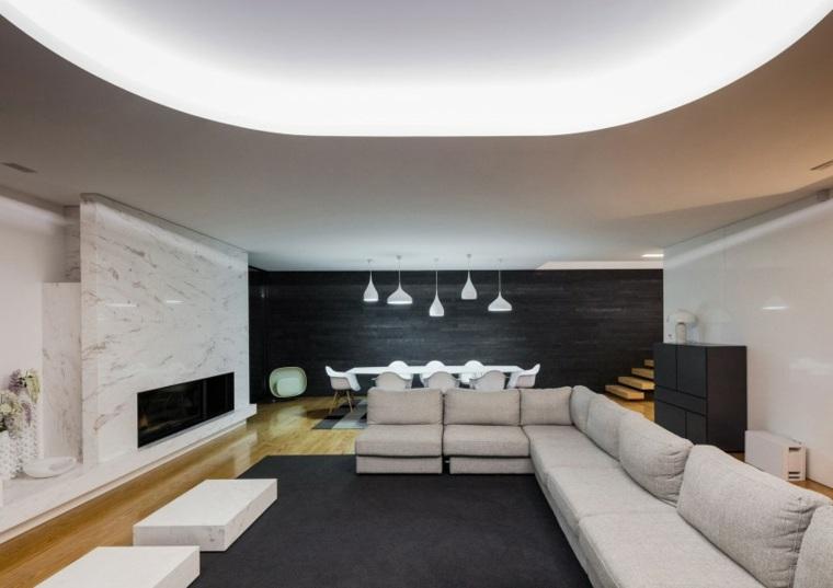 salon diseno moderno Raulino Silva Arquitecto ideas