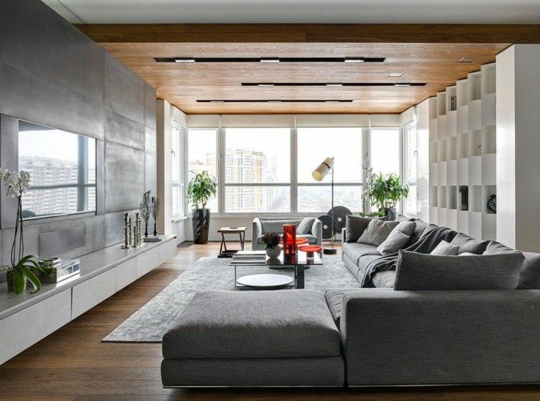 salon diseno moderno apartamento Moscu Alexandra Fedorova ideas
