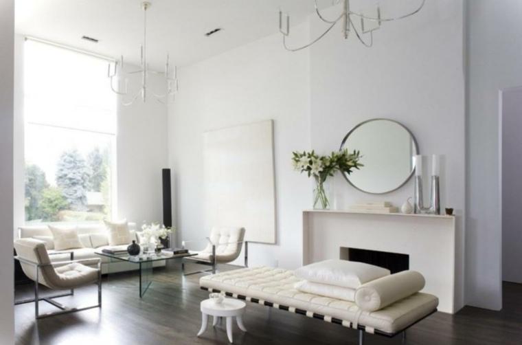 salon fouton retro color blanco