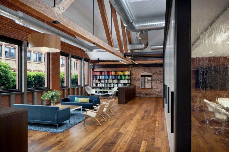 salon diseño moderno mueble biblioteca