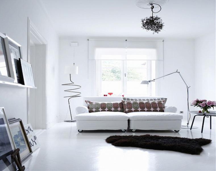 salones pequeños color blanco