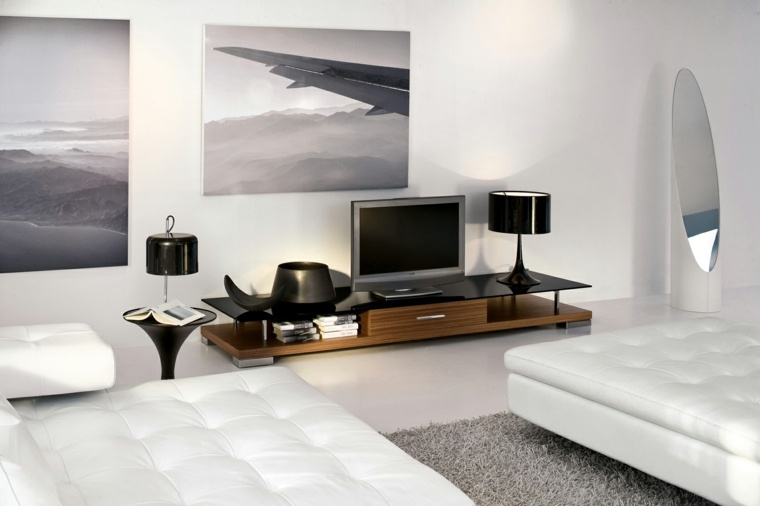 salones blancos muebles modernos