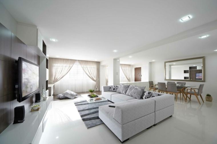 salones de color blanco modernos