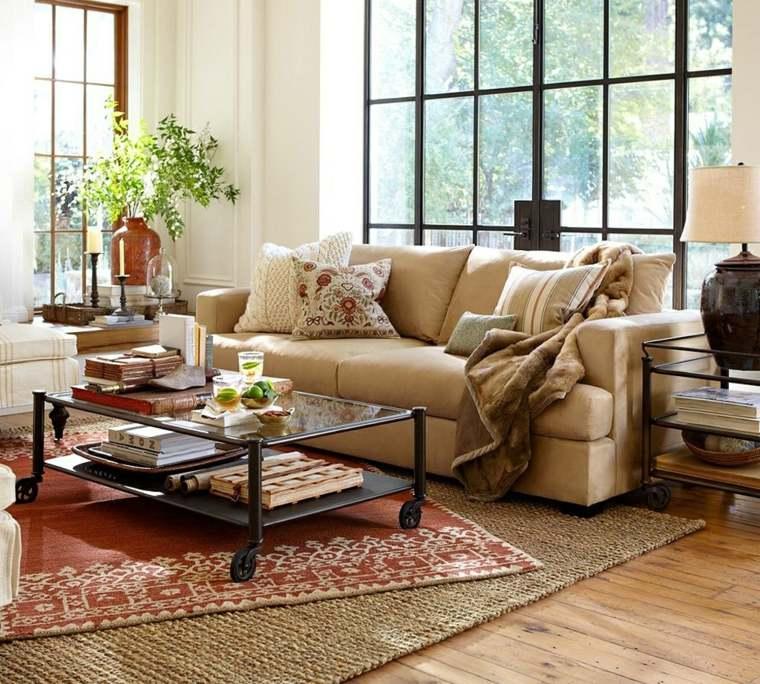 salones con encanto decoracion muebles salon alfombra original ideas