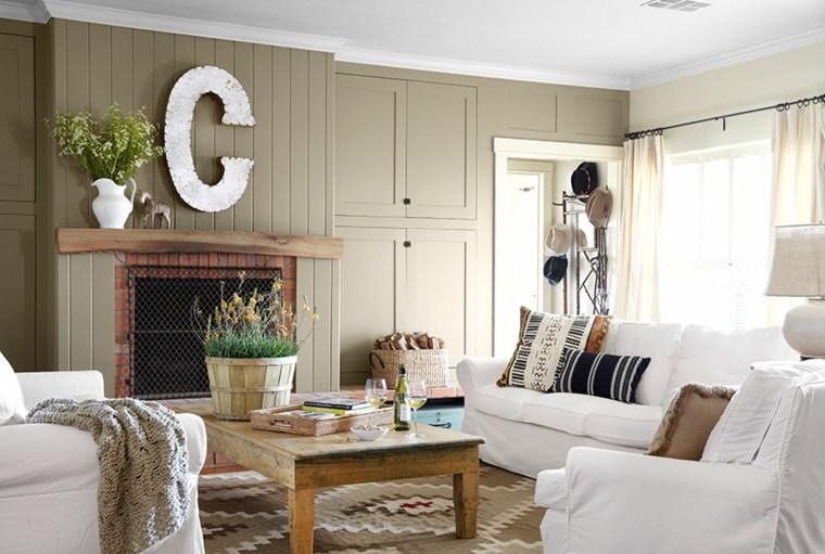 salones con encanto decoracion muebles salon chimenea campo ideas