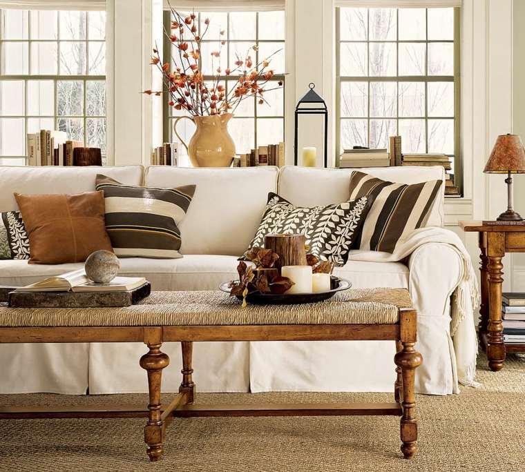 salones con encanto decoracion muebles salon cojines sofa blanca ideas