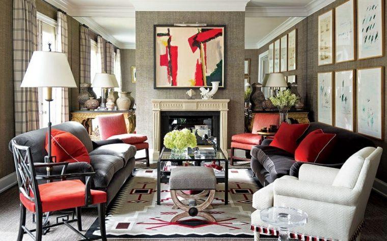 salones con encanto decoracion muebles salon combinacion varios colores ideas