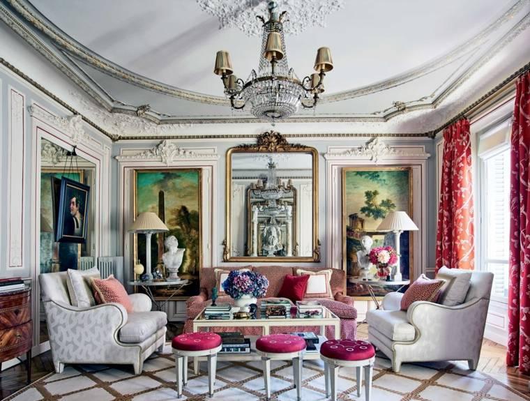 salones con encanto decoracion muebles salon cuadros figuras ideas