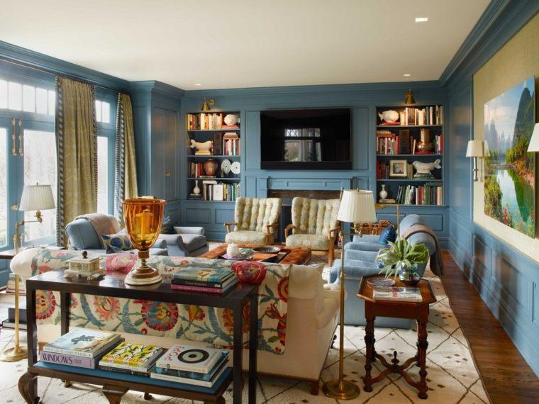 salones con encanto decoracion muebles salon estallido colores ideas