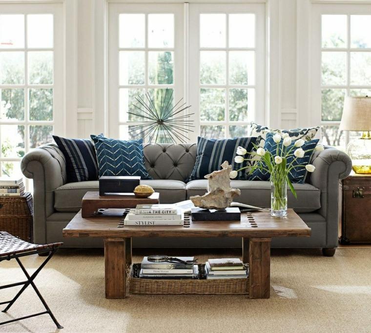 salones encanto decoracion muebles salon sofa gris ideas