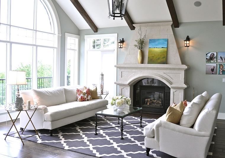 salones con encanto decoracion muebles salon sofas blancas ideas