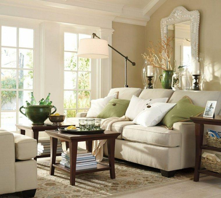 salones encanto decoracion muebles salon toques color verde ideas