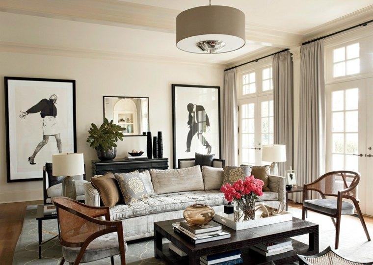 salones encanto decoracion muebles tonalidades claras salon ideas