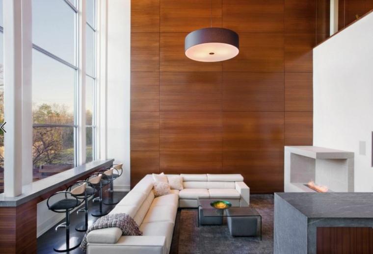 salones diseno modernos madera