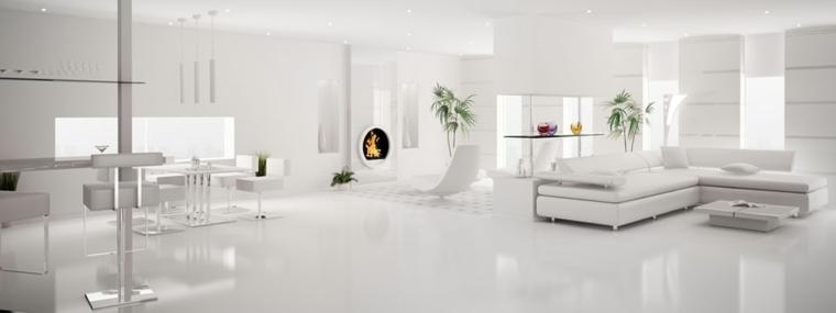 salones en blanco modernos