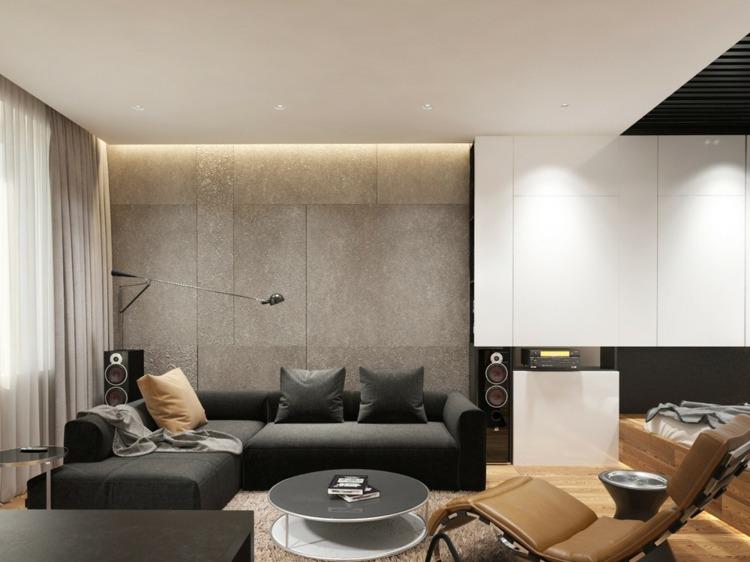 Salones peque os decoracion en 55 ideas geniales de xito - Salones modernos pequenos ...