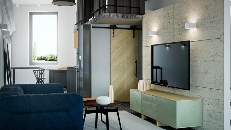 salones pequeños decoracion conceptos paredes