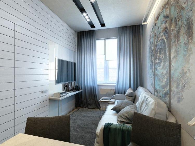 salones pequeños decoracion empotradas paredes luminosos