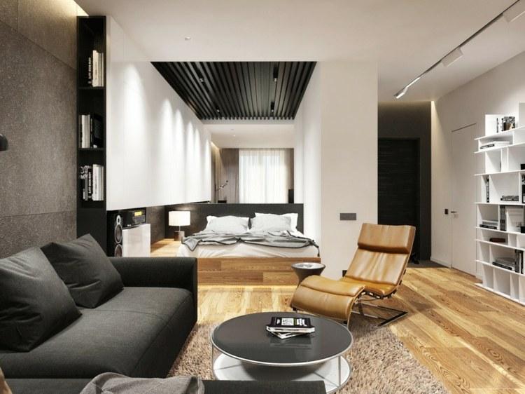salones pequeños decoracion masculino madera habitacion