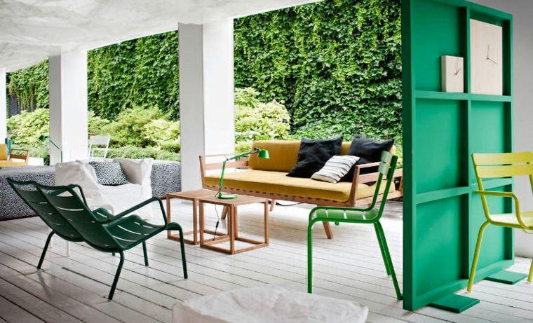 separador de ambientes color verde