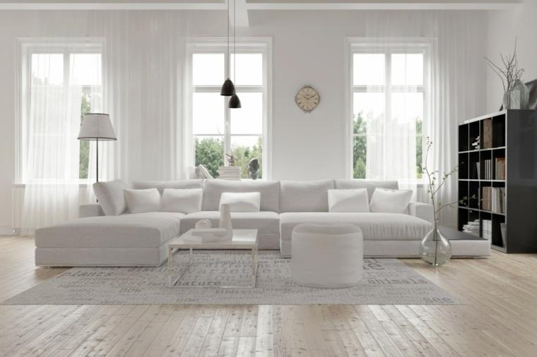 sofa color blanco moderno salón