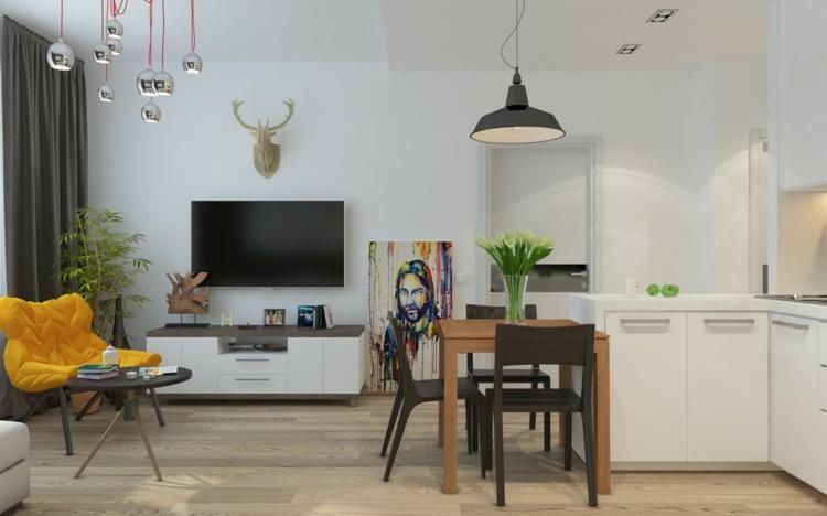 television sillones efectos paredes muebles