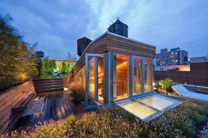 terrazas azotea hierbas decoraciones cristales